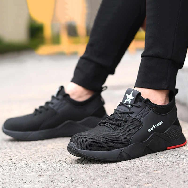 Erkek botları çelik burunlu iş ayakkabıları güvenlik botu güvenlik ayakkabıları erkekler açık erkek ayakkabı yetişkin yıkılmaz ayakkabı Anti-piercing iş ayakkabısı erkekler