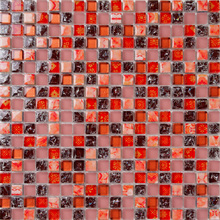 Red Crystal Glass Mosaic Tiles Ehgm1008a For Bathroom Shower Tiles Wall Mosaic Kitchen Backsplash Tiles Free Shipping