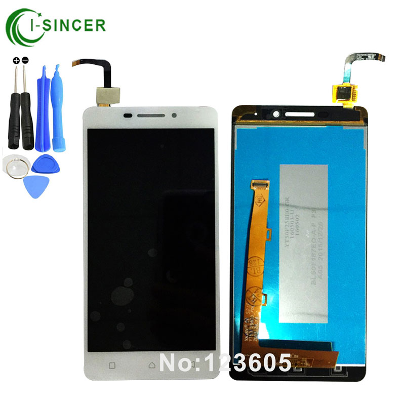 1/PCS Black,White P1m LCD Display For Lenovo VIBE P1m LCD Screen with Touch Screen Digitizer Assembly +tools