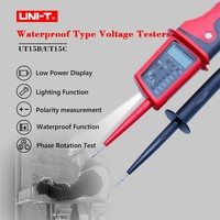 UNI T UT15C Digital Voltage Meter Waterproof AC/DC Voltage Testers LCD Display 24V~690V Auto Range Phase Rotation Free Shipping