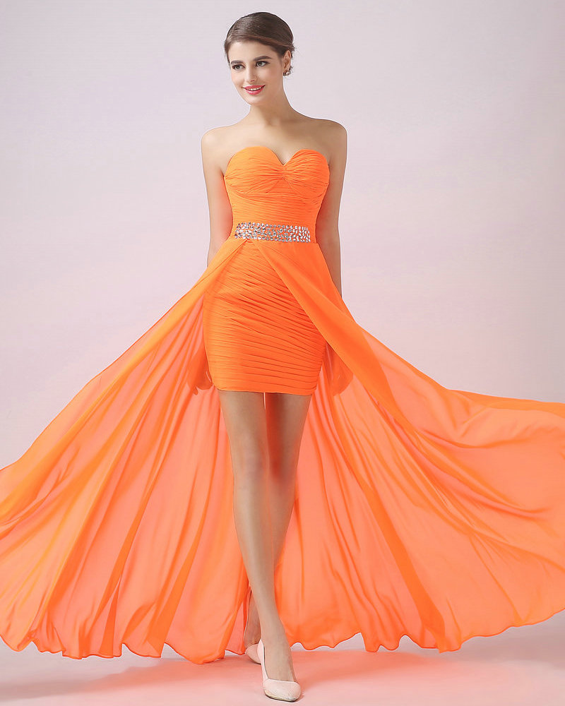 Popular Orange Graduation Dresses-Buy Cheap Orange Graduation ...