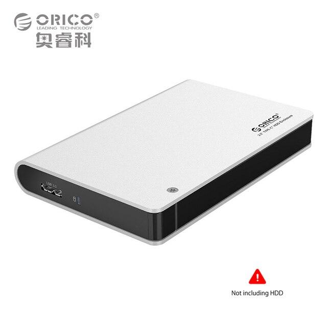 ORICO 2598S3-SV Aluminio USB3.0 2.5 Caja de DISCO DURO SATA3.0 Apoyo 9.5mm y 12.5mm de Disco Duro (No incluye DISCO DURO)