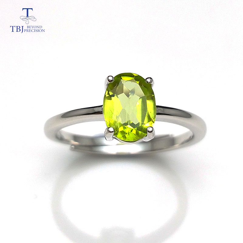 Tbj ,Cute simple small ring with natural peridot gemstone Ring in 925 sterling silver fine jewelry for girls & women as gift tbj delicate small ring with natural good color blue tanzanite gemstone lady ring in 925 sterling silver fine jewelry for women