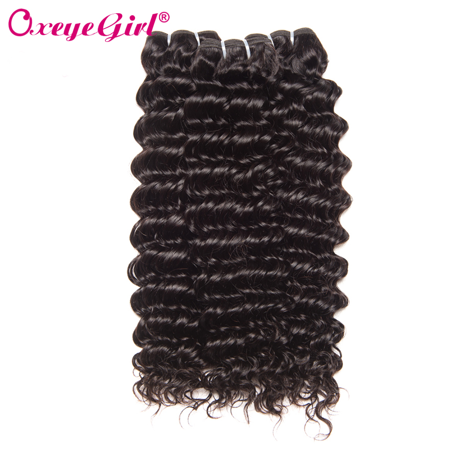 Gadis Oxeye Deep Wave Bundles Brazil Tenunan Rambut Menenun Ekstensi Rambut Manusia 1/3 Pieces Hair Bundles Non Remy