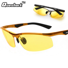 Military Professional Yellow Lens Polarized Fishing Sunglasses Night Vision Driving Glasses Reduce Glare Outdoor Hiking Eyewear
