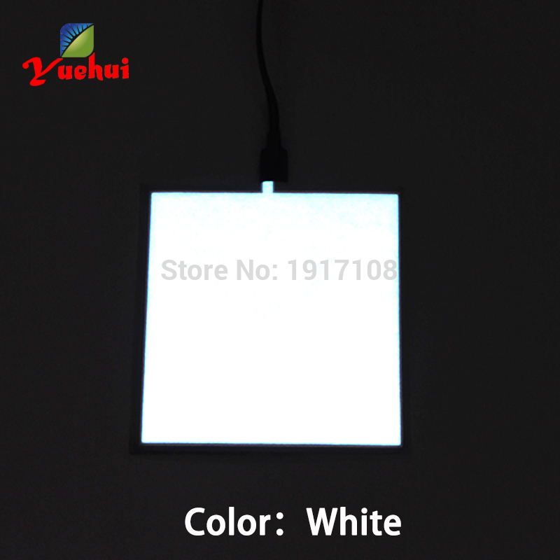 2017 Six Colors Hot Sales10X10CM EL Sheet EL Panel for Car,holiday,Bar,dispaly,Club, Glow Party Supplies without EL driver