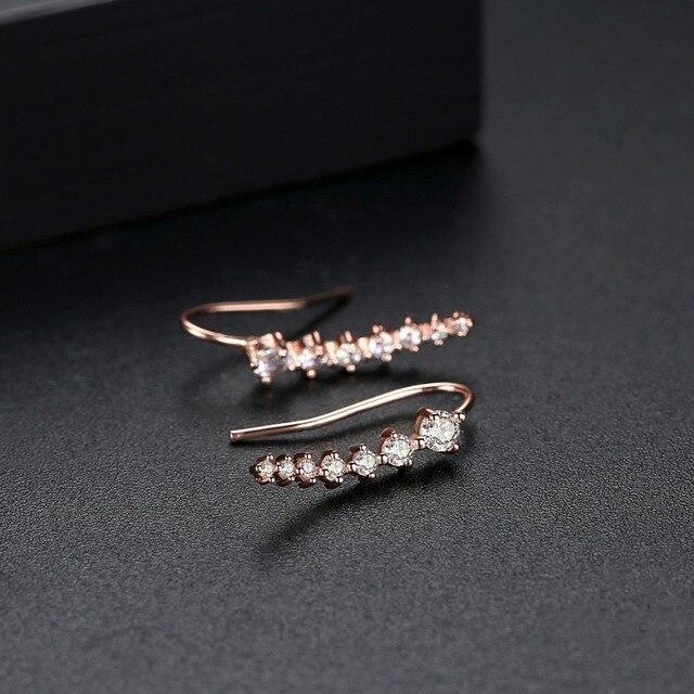 LUOTEEMI marque Design crochet boucles doreilles pour les femmes datant partie brillant rond CZ petites Pendientes deux couleurs à la mode cadeau de noël