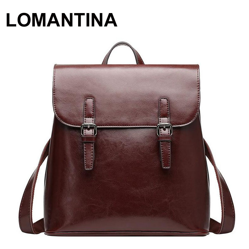 Fashion Designer Women Backpack Genuine Leather Female Backpack Women Schoolbag For Girls Large Capacity Shoulder Travel Bag