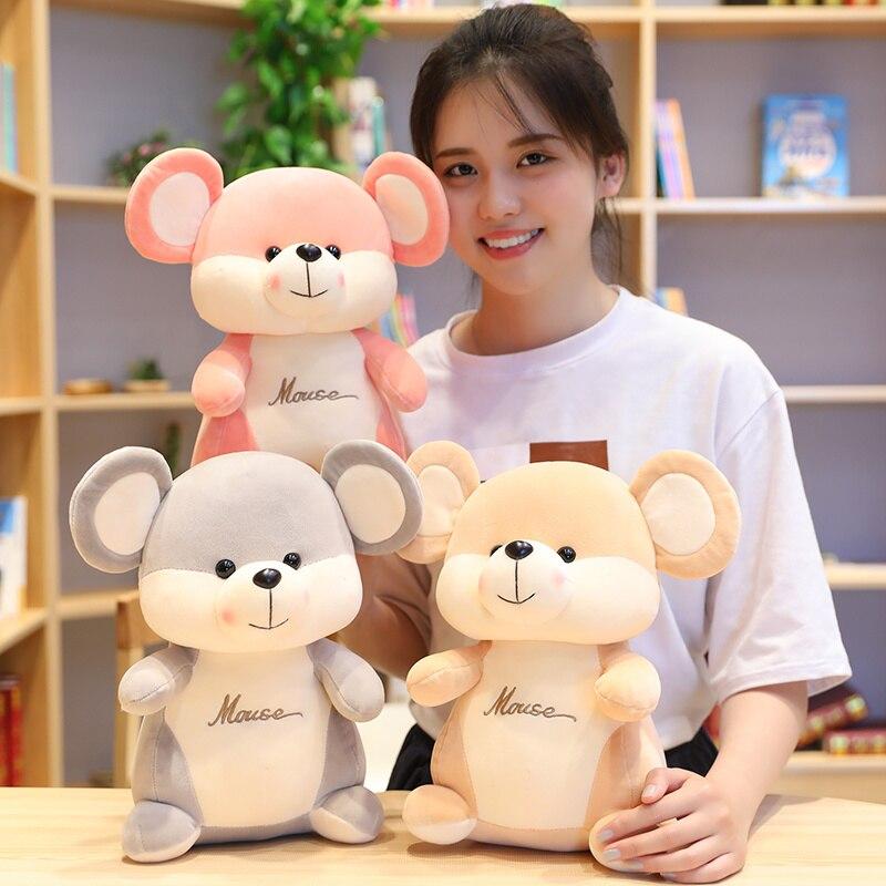 1 pc 25-45 cm de Pelúcia Elf Rato Ratos Rato Toy Stuffed Animal Dos Desenhos Animados Do Alfabeto Crianças Crianças Presente de Aniversário loja de Decoração Para Casa Presentes