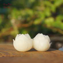 20mm Natural Bodhi Seed Fine Carved Lotus Flower Bud White Bead Loose beads Mala Japa Beads Bracelet Jewellry Findings DIY