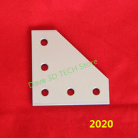 10pcs 3D Printer anodized 90 Degree Joining Plate with 5 holes for Openbuilds CNC V Slot 2020 3030 4040 Aluminum profiles