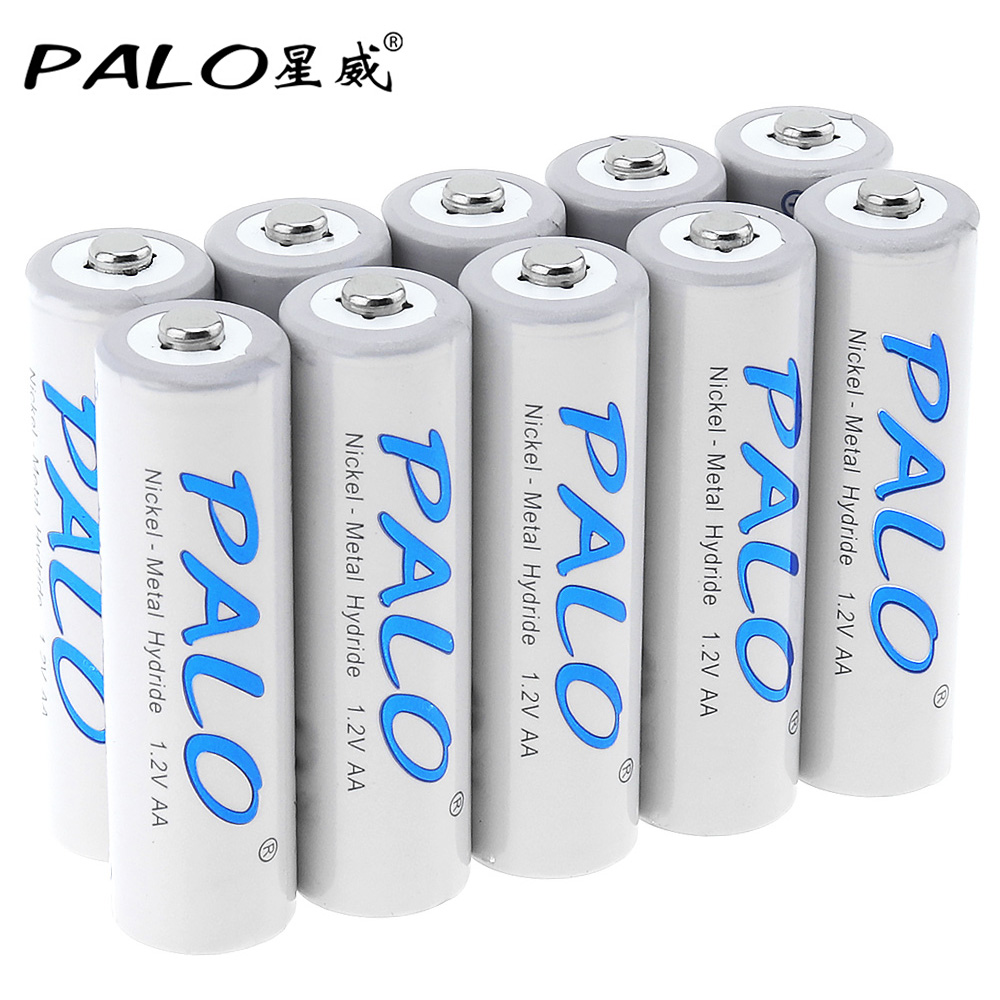 10pcs! PALO 1.2V 3000mAh AA Battery Ni-MH NiMH Rechargeable Battery with Over Current Protection for Camera Toy Remote Control