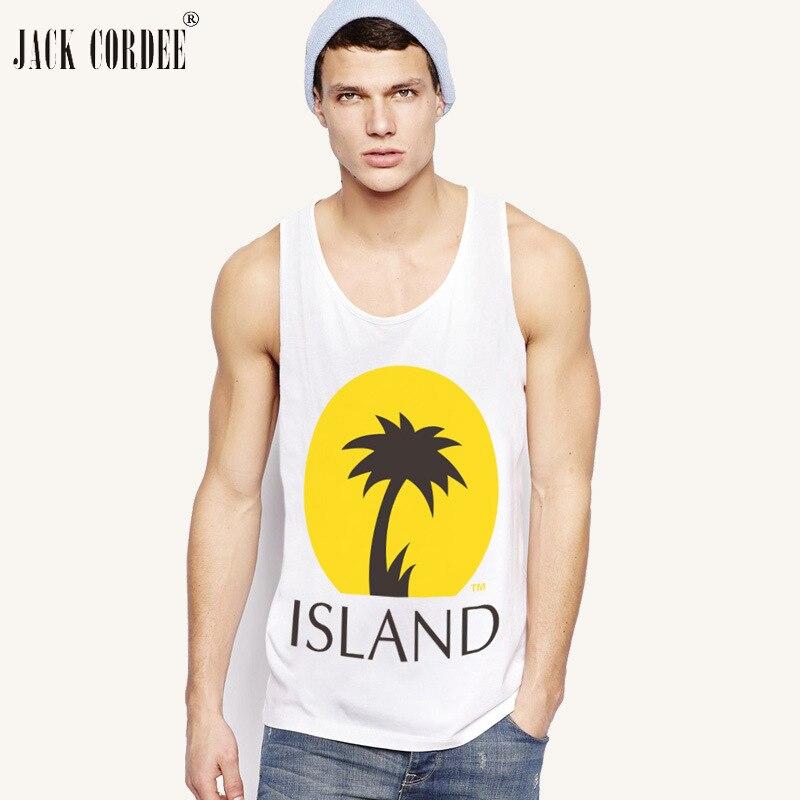 JACK CORDEE 2018 Beach Fashion   Tank     Top   Men Cotton Sleeveless Hawaiian Summer Singlets Undershirt Brand Vest Male   Tops