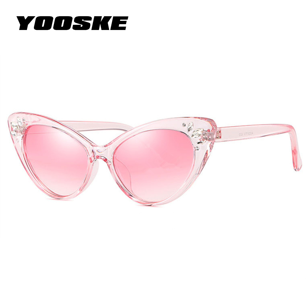 b0eb9948ad0b Detail Feedback Questions about YOOSKE 2018 Luxury Rhinestone Sunglasses  Women Cat Eye Sun glasses Ladies Sexy Pink Vintage Crystal Sunglass Shades  for ...