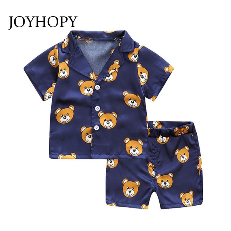 Children Pajama Sets Cute Bear Girls Clothing Sets New Summer Baby Boys Sleepwear Pajamas Set Kids Sleepwear