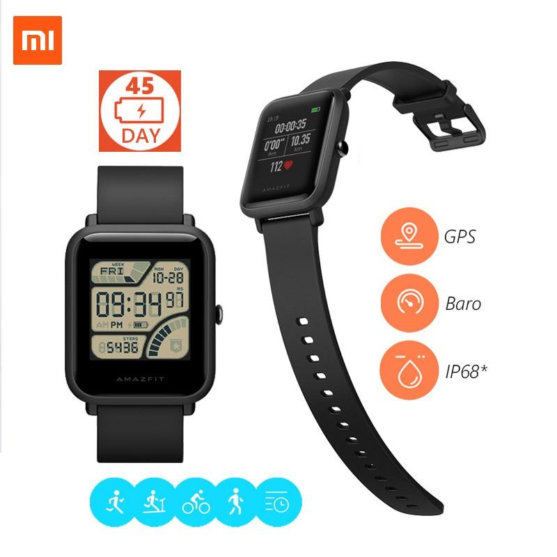 Xiaomi Amazifit Smart Bracelet Fitness Tracker heart Rate 1.28 inch Screen Watch IP68 Waterproof GPS Compass Youth En Version