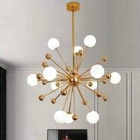 Molecule chandelier Lamp Kitchen Restaurant Dining Glass Ball chandelier Gold acrylic sputnik chandelier lighting fixtures