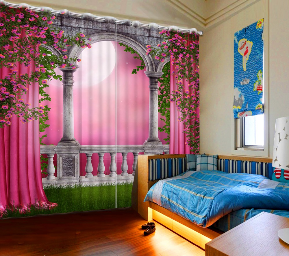 High Quality Costom Curtains For Living Room Pink Style Europe Roman Model  Curtains Home Bedroom Decoration In Curtains From Home U0026 Garden On  Aliexpress.com ...