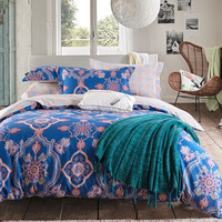 European Style Classic Decorative Pattern Damask Paisley Baroque Bedding Set Queen Size Cotton Bed Sheets Pillowcase
