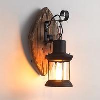 Creative antique retro led wall lamp outdoor restaurant cafe bar living room corridor lamp old retro wall lamp WF530424