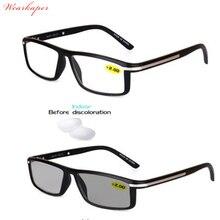 Óculos De Sol Fotocromáticas Transição WEARKAPER Homens Óculos De Leitura  Hipermetropia Presbiopia com dioptrias Presbiopia Ócul. 3cb93c874b