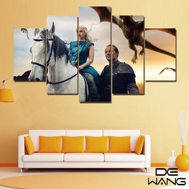 5 Piece Canvas Art Wall Game Of Thrones Painting Modern Paintings ...