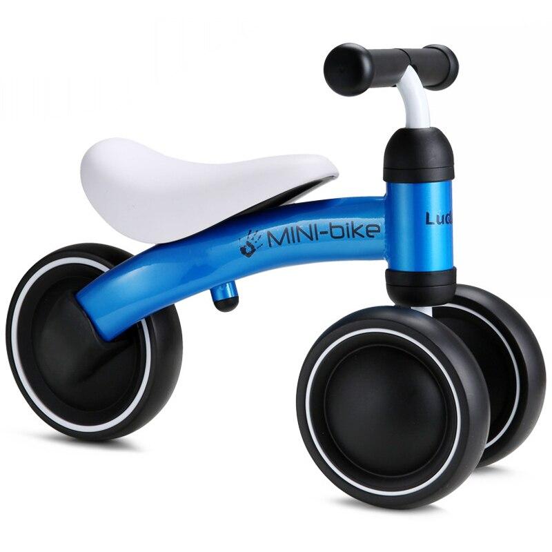 Bebé brillante bebé caminador automóvil juguete niños paseo en coche de 1 a 3 años de edad niños Scooter equilibrio bicicleta tren bebé Andador 4 ruedas - 5