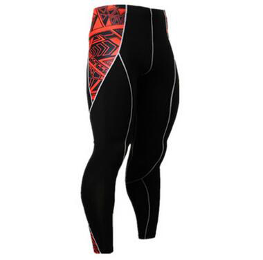New Fashion Mens Compression Pants 3D Print Quick Dry Skinny Bodysuit Leggings Tights Fitness MMA Pants Trousers