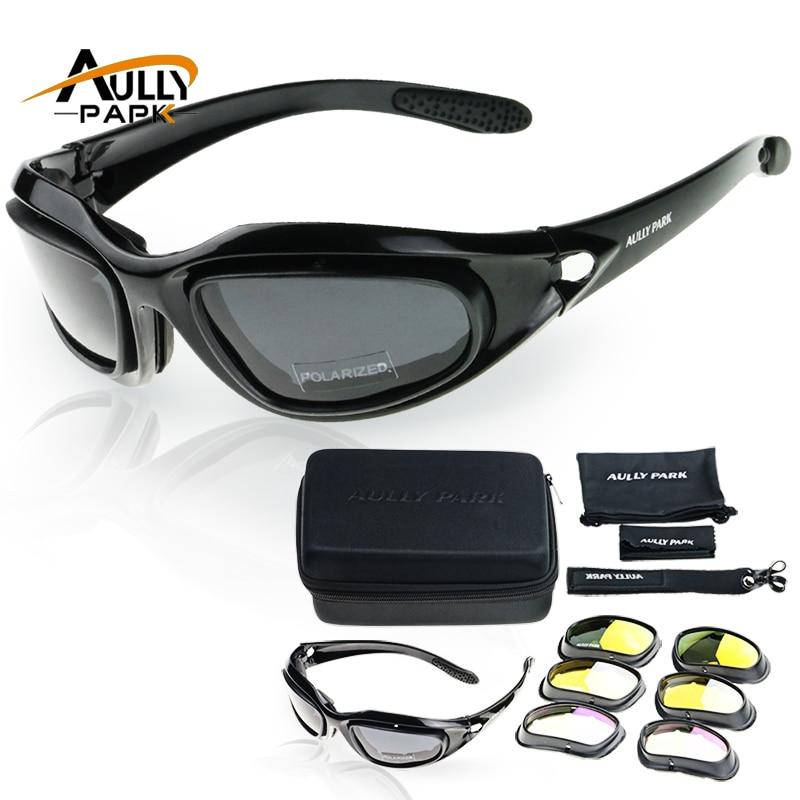 Moto Occhiali Esercito Occhiali Da Sole Polarizzati Per Caccia Tiro Airsoft EyewearMen Protezione Degli Occhi Antivento moto Occhiali UV400 Occhiali