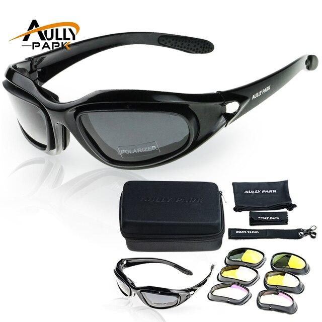 b67adfa92ead Motorcycle Glasses Army Polarized Sunglasses For Hunting Shooting Airsoft  EyewearMen Eye Protection Windproof moto Goggles UV400
