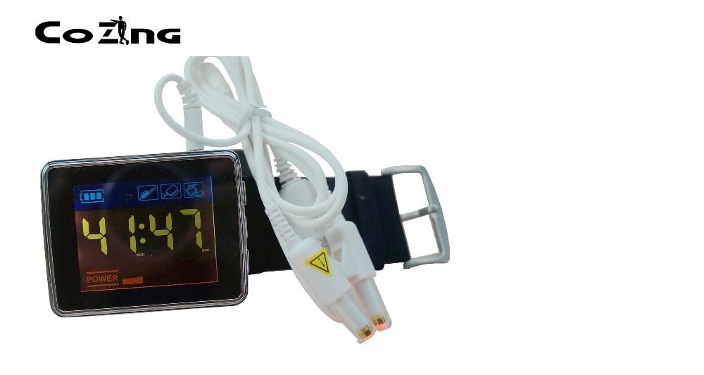 Wrist laser watch hyperviscosity blood irradiation machine wrist type laser high quantity medicine detection type blood and marrow test slides