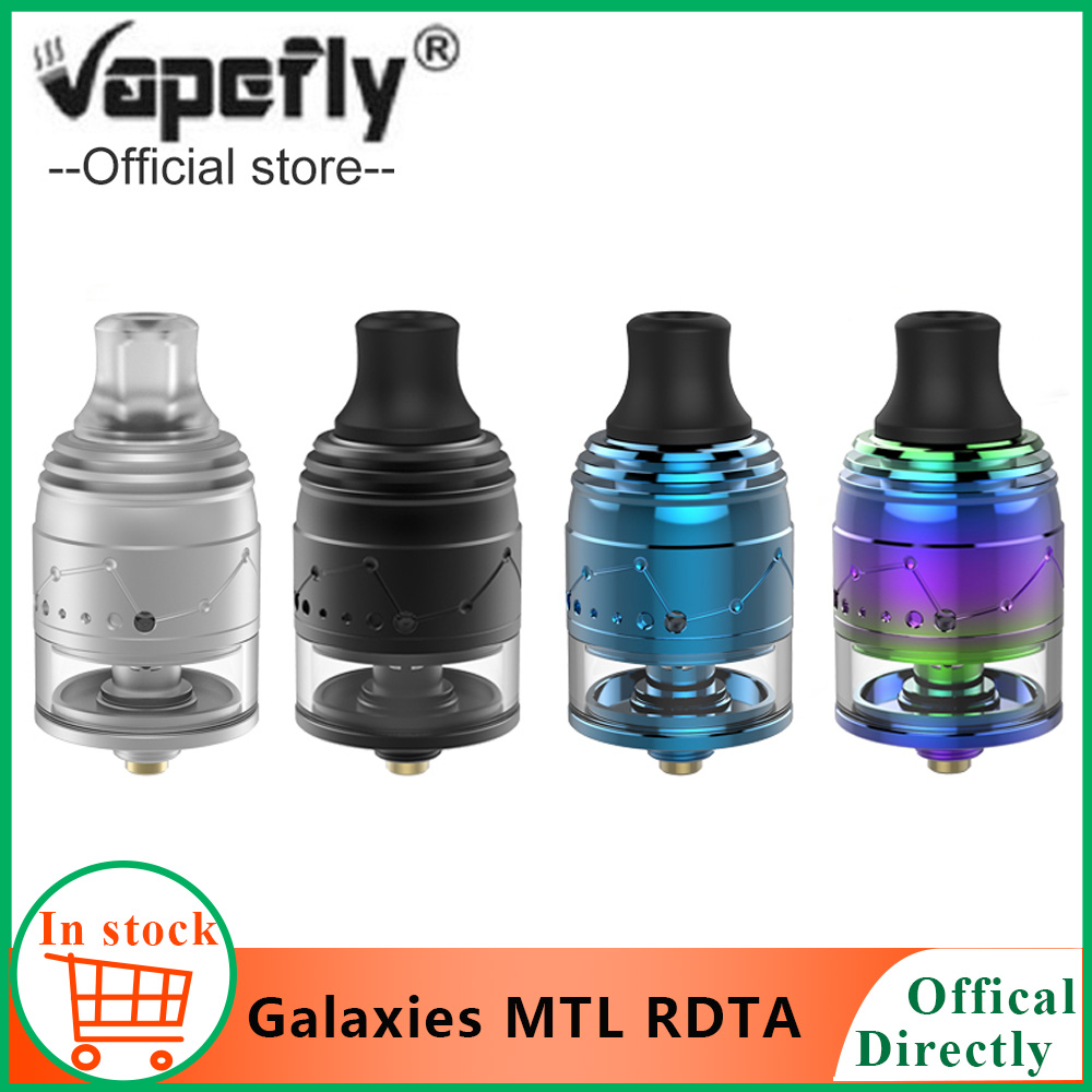 2 pcs/lot Original Vapefly Galaxies MTL RDTA 22mm MTL Squonk RDTA 2 ml haut-remplissage Anti-chaleur rdta vs Berserker MTL atomiseur
