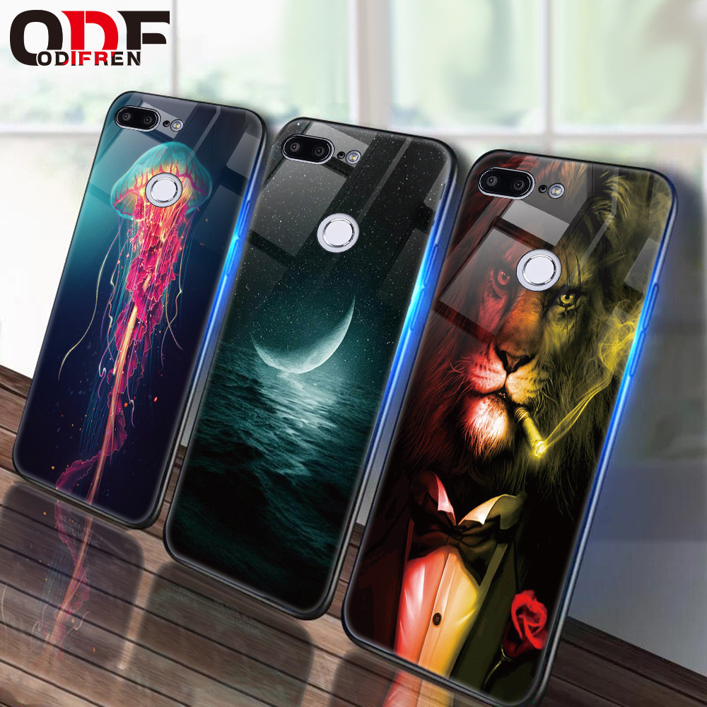 Glass Case For Huawei P20 P10 Lite Mate 10 20 Lite Silicone Case On Honor 9 Lite 7A Pro 10 8X Play 7C Cases P Smart NOVA 3 чехлы марвел