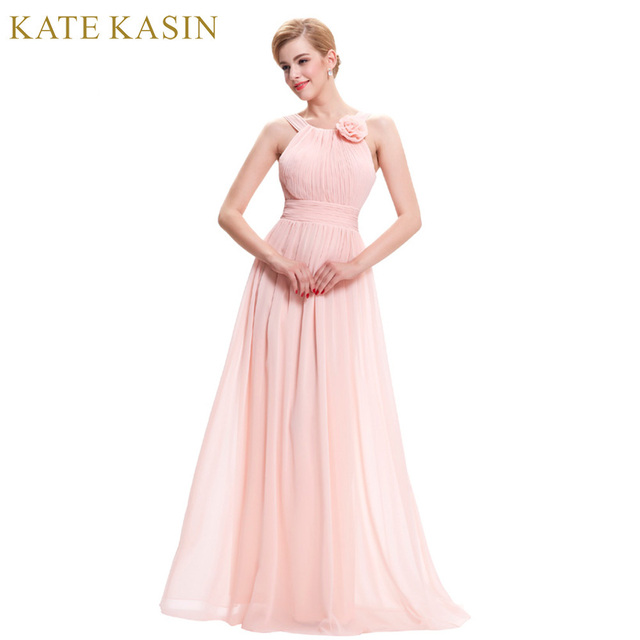 Kate kasin розовый Вечерние платья 2018 длинные торжественное платье для свадьбы невеста платье Vestido De Festa Лонго шифоновое вечернее платья