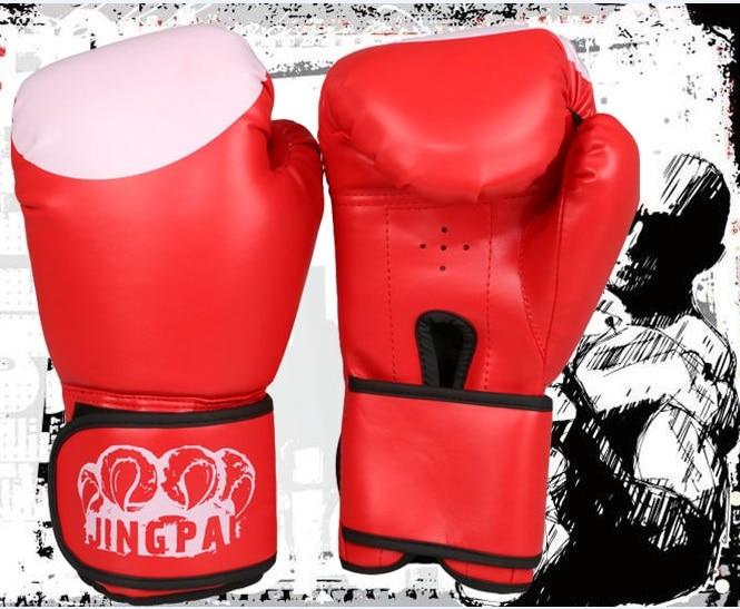 ef345ff08 2016 New Male Female 10 oz PU Muay Thai Boxing Gloves Sanda Kungfu Wushu  Women Men Fighting Sandbag Training luvas boxeo Guantes