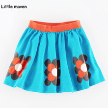 Little maven 2017 new summer baby girl clothes butterfly printing cotton pocket mini A-line blue skirt S0161