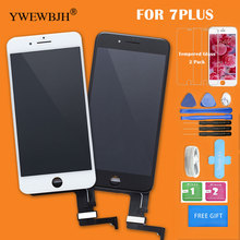 YWEWBJH Parts 5pcs AAA LCD Screen For iPhone 7 display Digitizer Assembly Touch for iphone 7 plus LCD with Good 3D Black White 100% original new lcd display perfect 3d for iphone 7 white black lcd screen digitizer touch glass screen assembly free shipping
