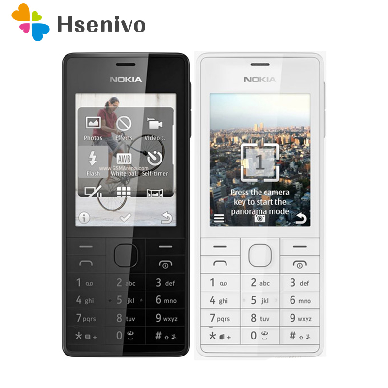 515 Original Unlocked Nokia 515 Single Dual Sim Card 2.4 'Inch 5MP Camera 1200mAh Single Core Cellphone Free Shipping