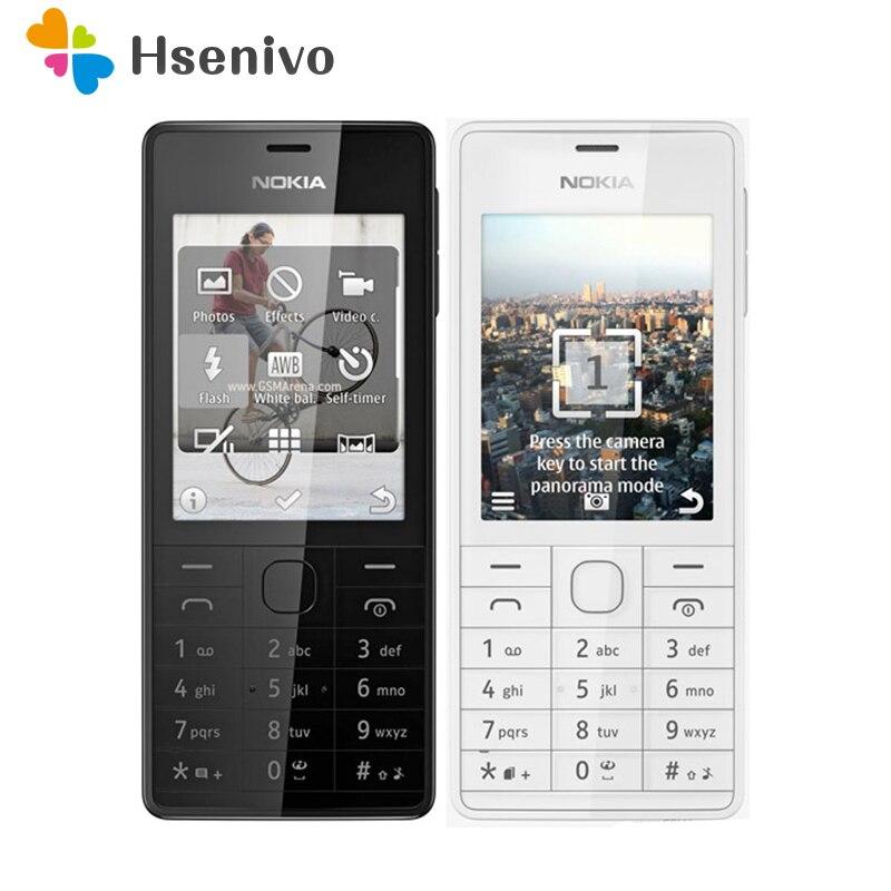 515 Original débloqué Nokia 515 simple double carte Sim 2.4 'pouces 5MP caméra 1200 mAh unique noyau téléphone portable livraison gratuite