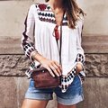 YO Sexy Women Vintage Retro Ethnic Fashion Jacket Women Embroidered Flower Print Loose Casual Jacket