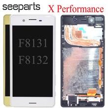 شاشة LCD تعمل باللمس مقاس 5.0 بوصة لهاتف Sony Xperia X ، مع مجموعة إطار محول رقمي