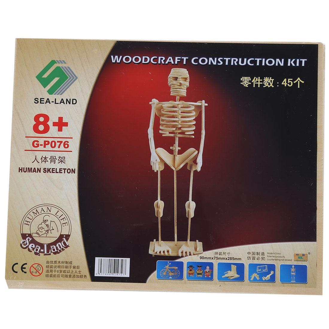 HOT Child Assemble Model 3D Wood Puzzle Toy Construction Kit