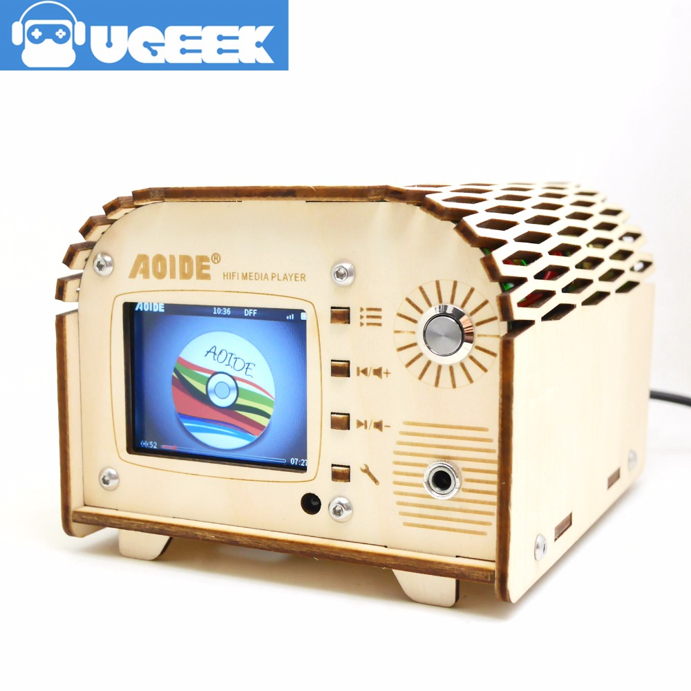 цена на UGEEK Aoide DAC+ Hifi Media Player|2.2inch screen with 4 buttons|384 kHz/32-bit|IR receiver supported