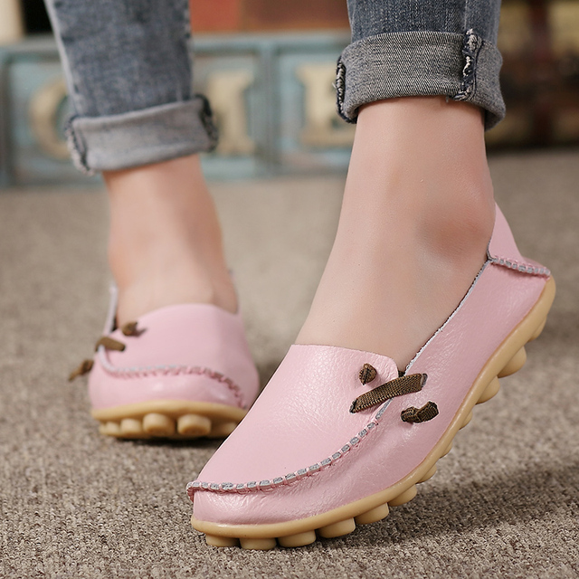 Strap Leather Loafer Shoes