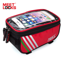 MEETLOCKS Road Bicycle Bike Bags Front Frame Bicycle Accessories Waterproof Phone Saddle Bag Touch Screen Bisiklet