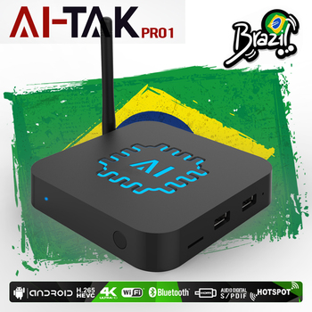 2018 Brazil IPTV Android box AI TAK Pro1 4K Brazilian  free channels subscription  with VOD Playback and Live protectores de cargador iphone