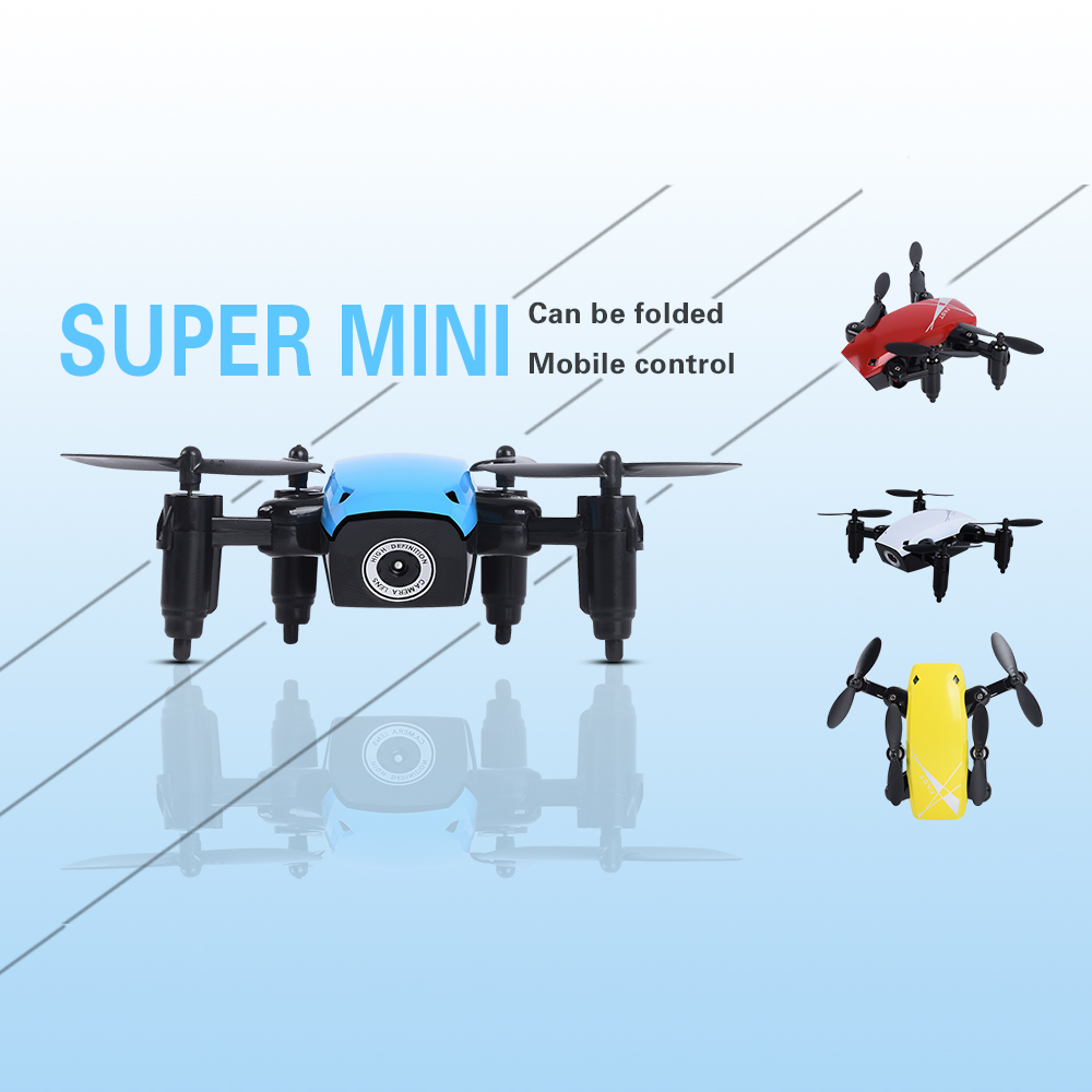 S9 S9W S9HW Foldable RC Mini Drone Pocket Drone with Camera FPV WiFi RC Helicopter Toy For Gift