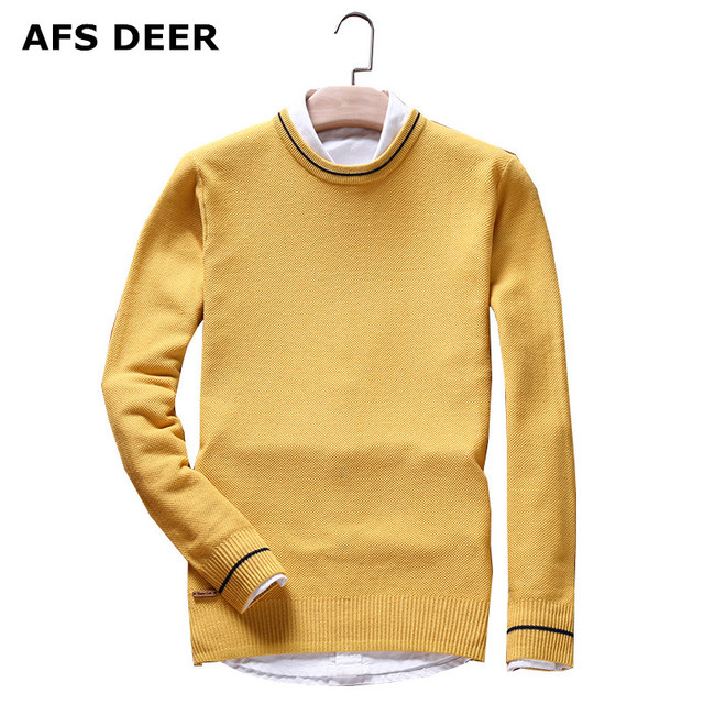 Men's Pullover Wool Sweater O-Neck Cotton Jumpers  2016 new  fashion causal  solid  simple male Brands knitting sweater