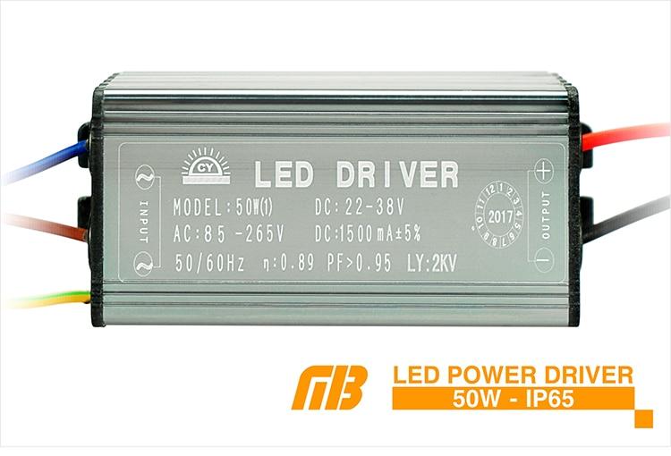Transformateur LED Driver CA 85-265V dadaptateur de conducteur de Liuwenjin 50W LED au CC 24-38V IP65 imperm/éable