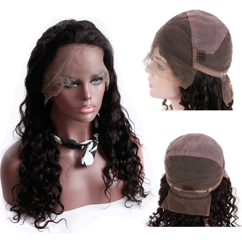 Glueless Pre Plucked Full Lace Human Hair Wigs Brazilian Loose Wave Remy Human Hair Full Lace Wig With Baby Hair 150% Smoora